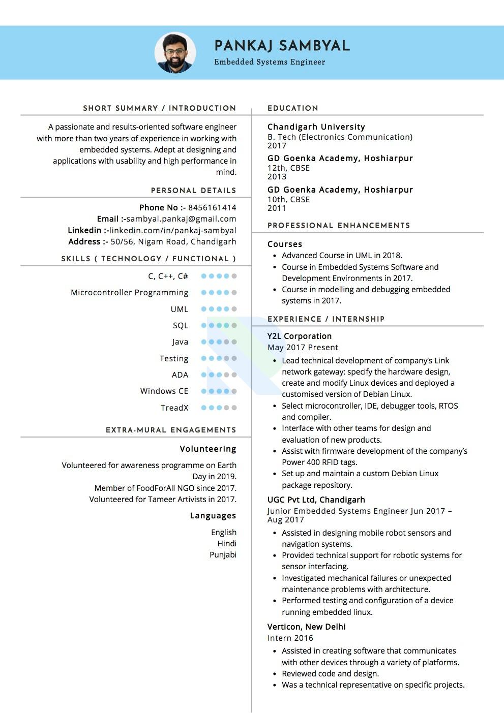 sample resumes and cvsindustry  resumod