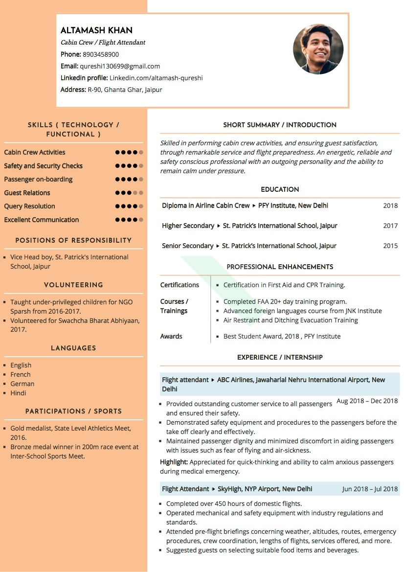 sample resumes and cvs by industry